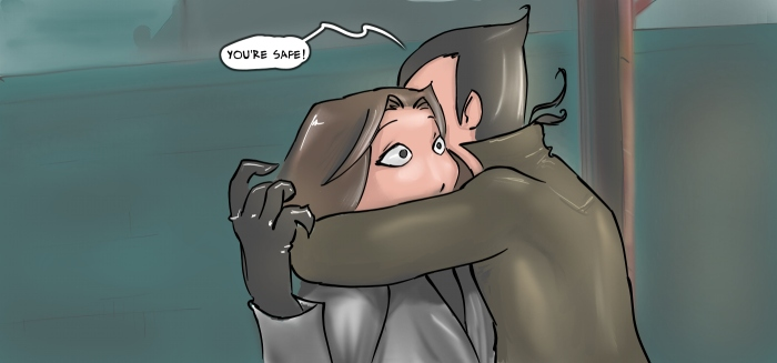 Hug surprise